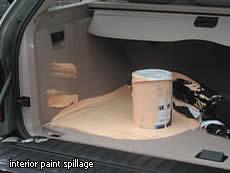interior paint spillage removal car accident clean up. Black Bedroom Furniture Sets. Home Design Ideas