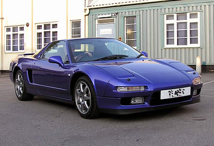 Hond NSX after buffing and waxing.