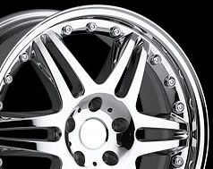 The end product - a chrome wheel