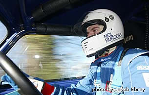 Neil Burgess in a Rally mini cooper - photo by Jakob Ebrey