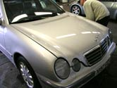 Mercedes E220 during valeting, having JewelUltra Diamondbrite applied.