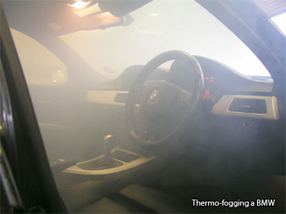Fogging with anti-bacterial agents.