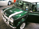 Mini Cooper now ready for the London to Brighton run
