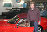 Mr Crowhurst with his newly valeted Marcos