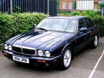 This XJ8 had the steering wheel reconnollised