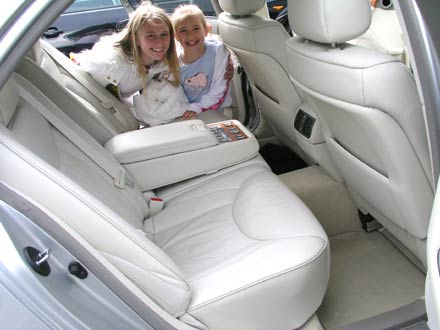 The hollins girls with dad's Lexus LS430