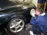 Mark buffing the Jaguar XJRR