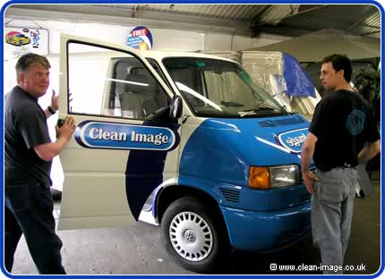 Gary and Sean with the Clean Image van