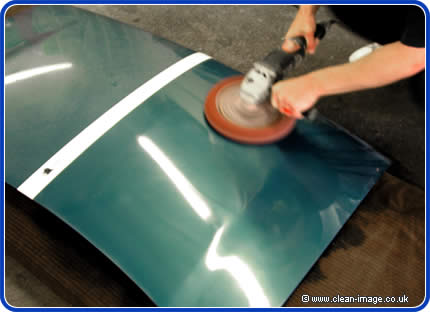 buffing with a coarse pad