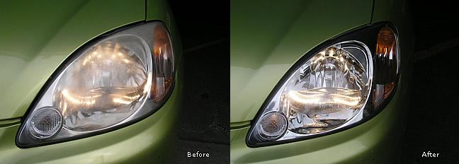 Scratched Plastic Headlight Polishing Essex New Again