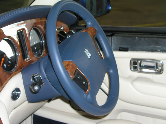 Rolls royce Steering wheel.